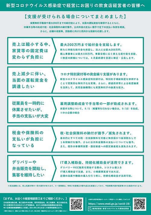 飲食業リーフレット見本02